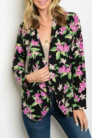 OnTwelfth Black Floral Cardigan - Product Mini Image
