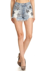 Ontwelth Denim Star Shorts - Product Mini Image
