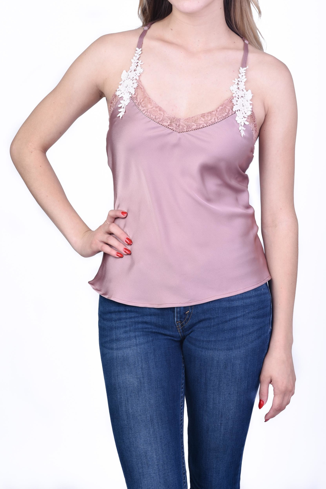 OnTwelfth Lace Slip Cami - Main Image