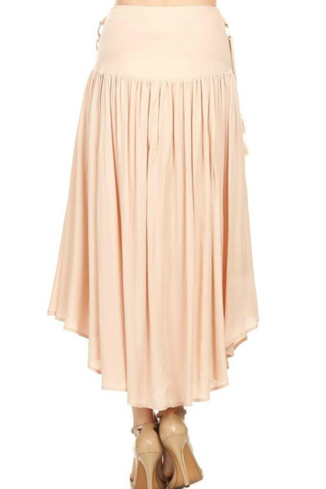 ontwelth beige maxi skirt from new jersey by locust whimsy