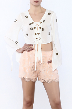 Ontwelth Flower Studded Crop Top - Product List Image