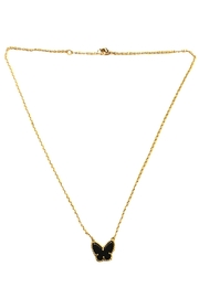 Lets Accessorize Onyx Butterfly Necklace - Product Mini Image