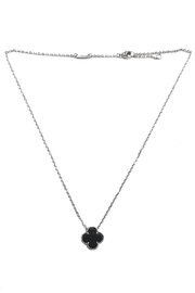 Lets Accessorize Onyx Clover Necklace - Product Mini Image