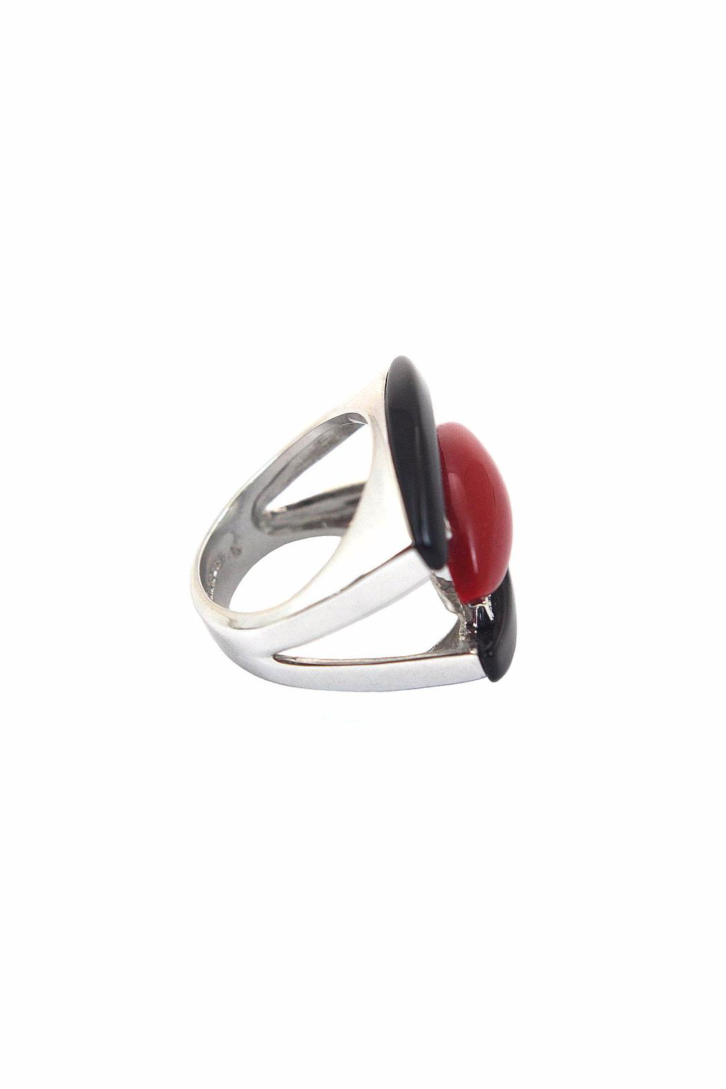 Popular Design, Inc. Onyx Coral Ring - Front Full Image
