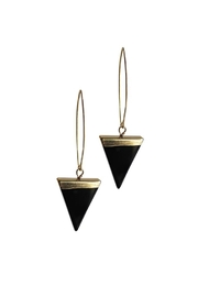 Larissa Loden Onyx Triangle Earrings - Front cropped