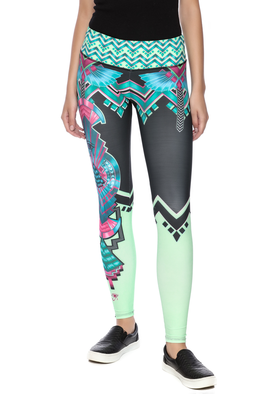 44fdf13a9e2216 Onzie Graphic Legging from Iowa by Namaste' Athleisure Wear — Shoptiques