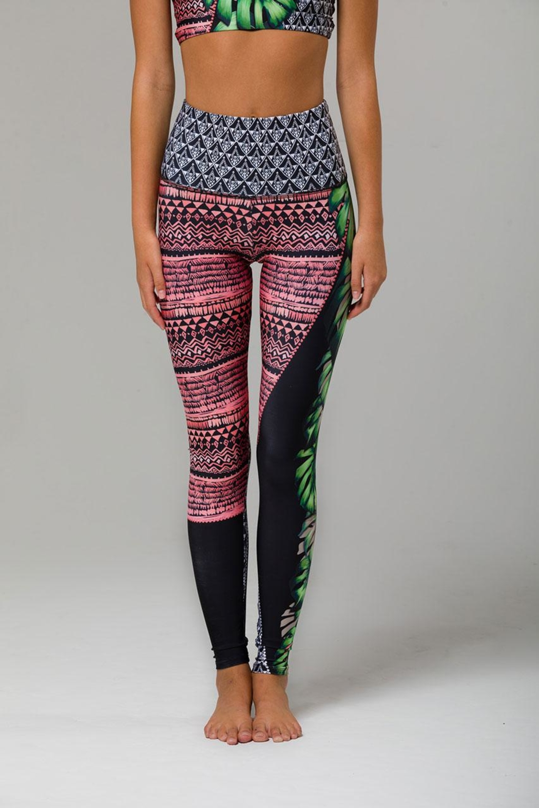 Onzie Printed Legging - Front Cropped Image