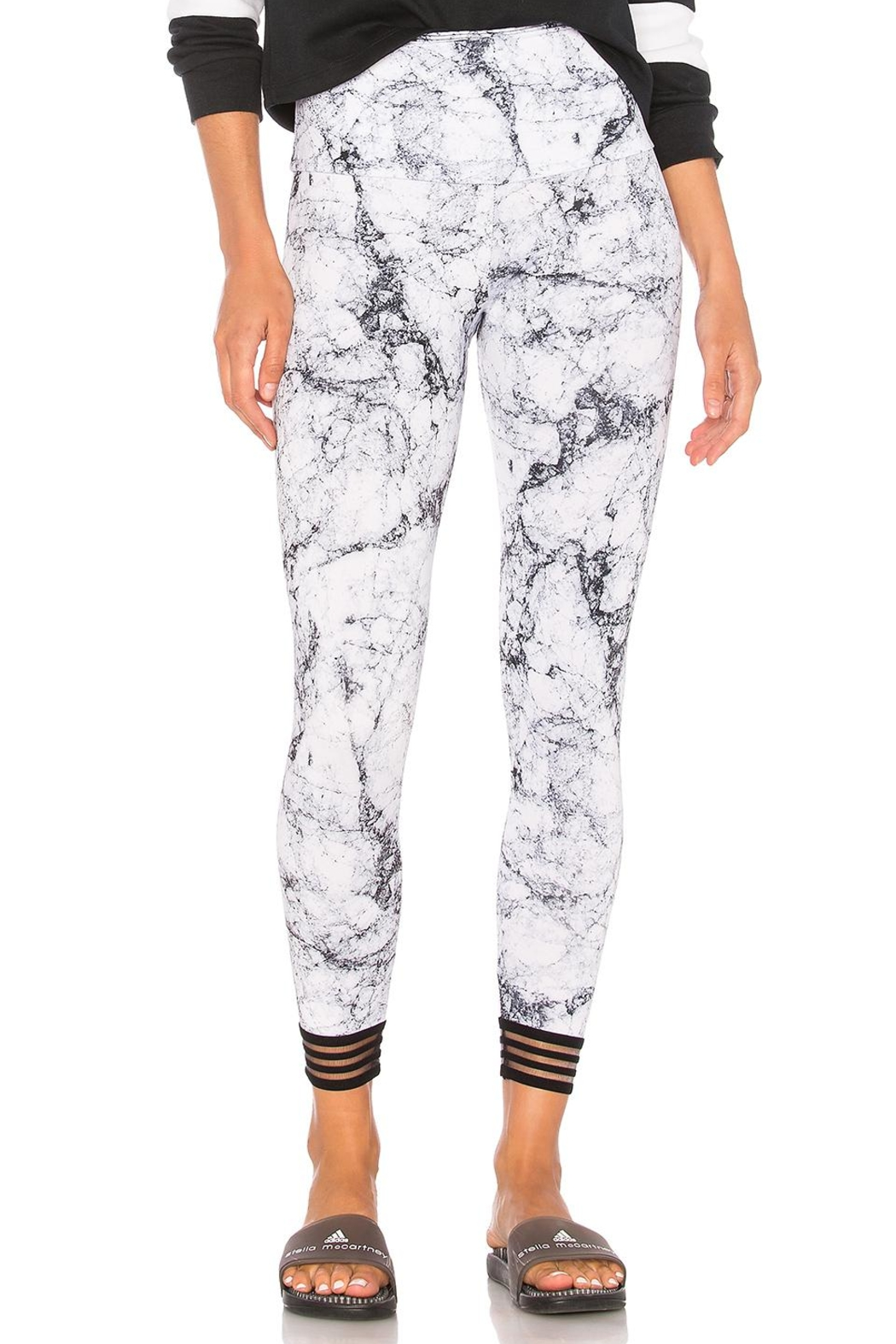 Onzie White Marble Legging - Front Cropped Image