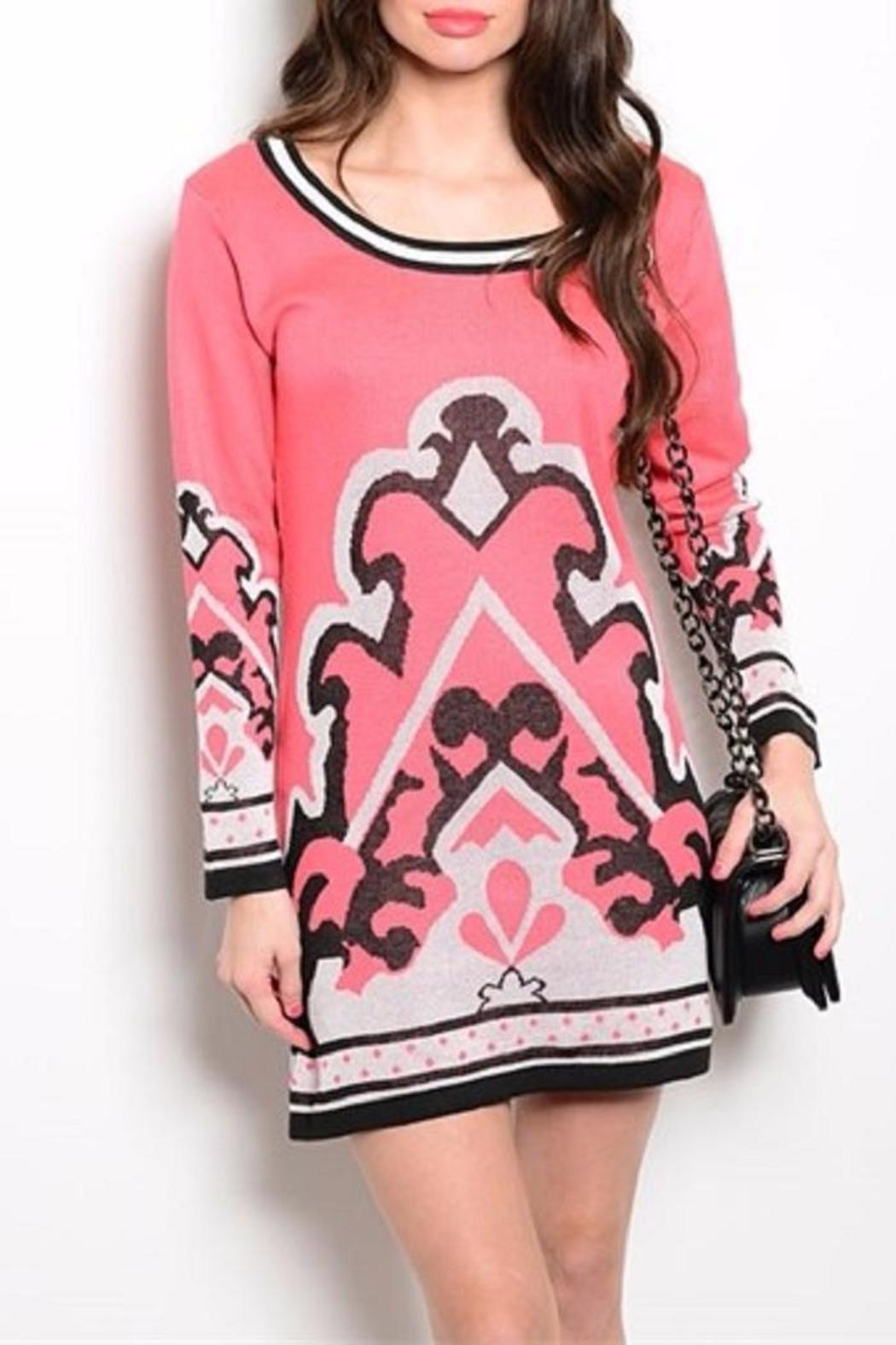 Ooh la la boutique coral sweater dress from texas by ooh la la ooh la la boutique coral sweater dress front cropped image publicscrutiny Choice Image