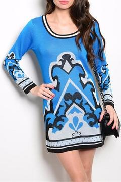 Shoptiques Product: Blue And Black Sweater