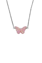 Lets Accessorize Opal Butterfly Necklace - Front cropped