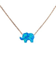 Lets Accessorize Opal Elephant Necklace - Product Mini Image