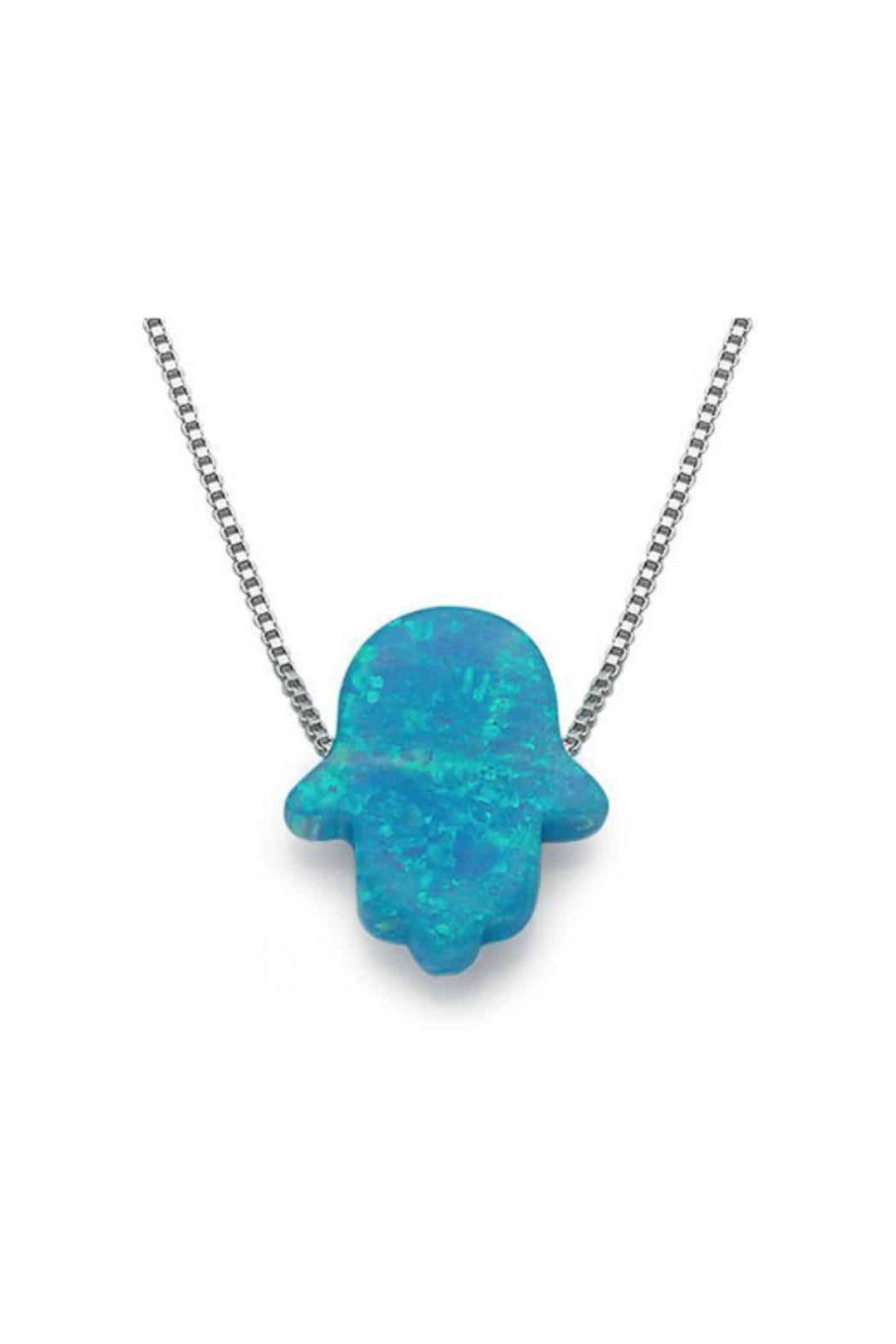 Opal Hamsa Necklace - Front Cropped Image