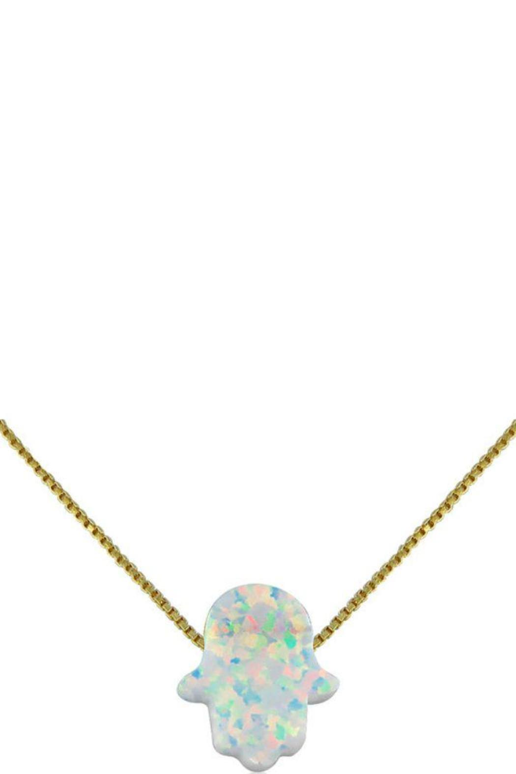 7f3cf73c6b276 Opal Hamsa Necklace from New York by Let's Accessorize — Shoptiques