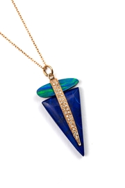 Jacquie Aiche Opal/lapis Triangle Necklace - Product Mini Image