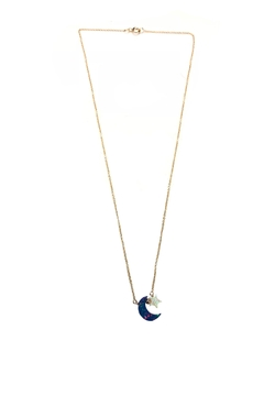Shoptiques Product: Opal Moon-And-Star Necklace