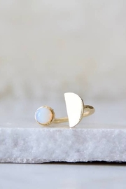 Mesa Blue Opalite Half Moon Ring - Product Mini Image