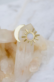 Mesa Blue Opalite Sun & Moon Ring - Product Mini Image