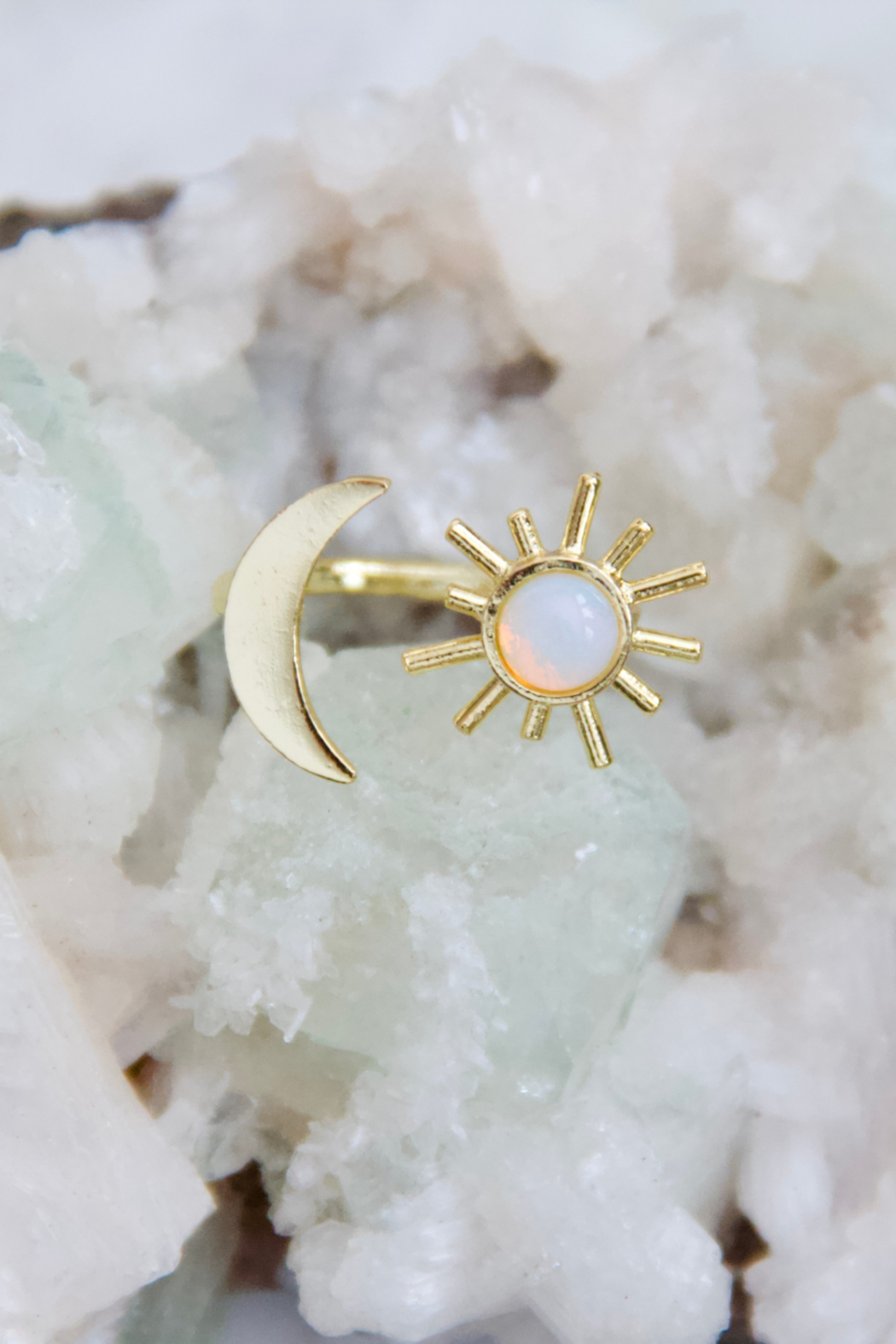 Mesa Blue Opalite Sun & Moon Ring - Side Cropped Image