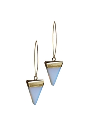 Larissa Loden Opalite Triangle Earrings - Front cropped