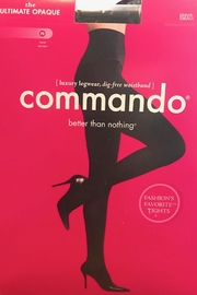 Commando Opaque Black Tights - Product Mini Image