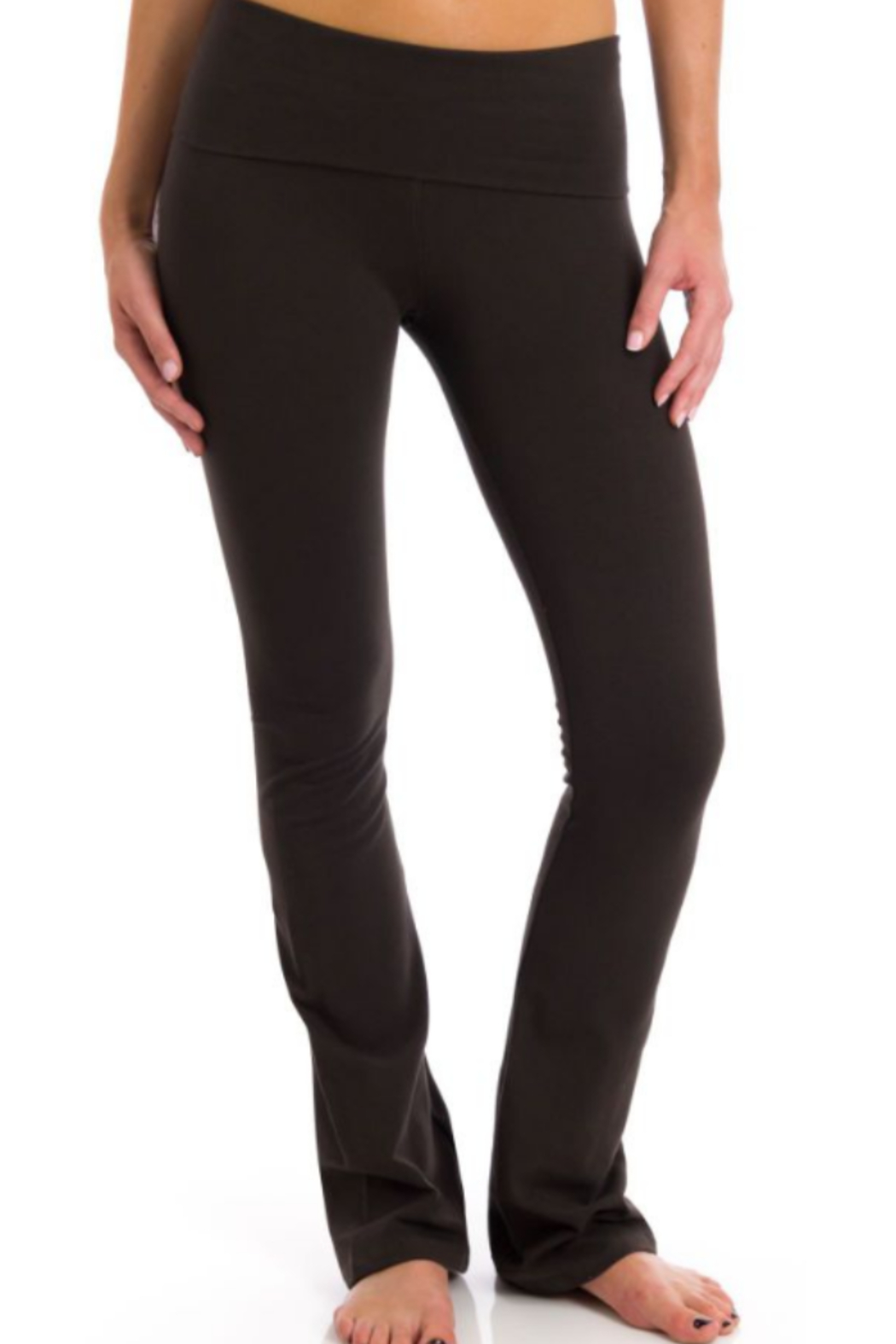 T Party Opaque Colored Yoga Pants - Main Image