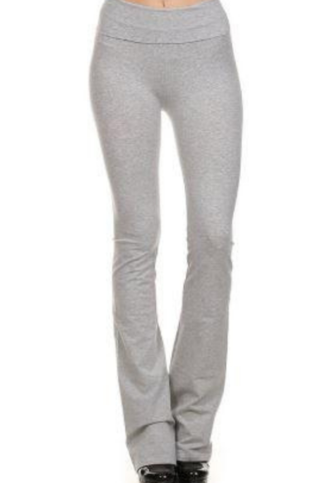 T Party Opaque Colored Yoga Pants - Front Full Image