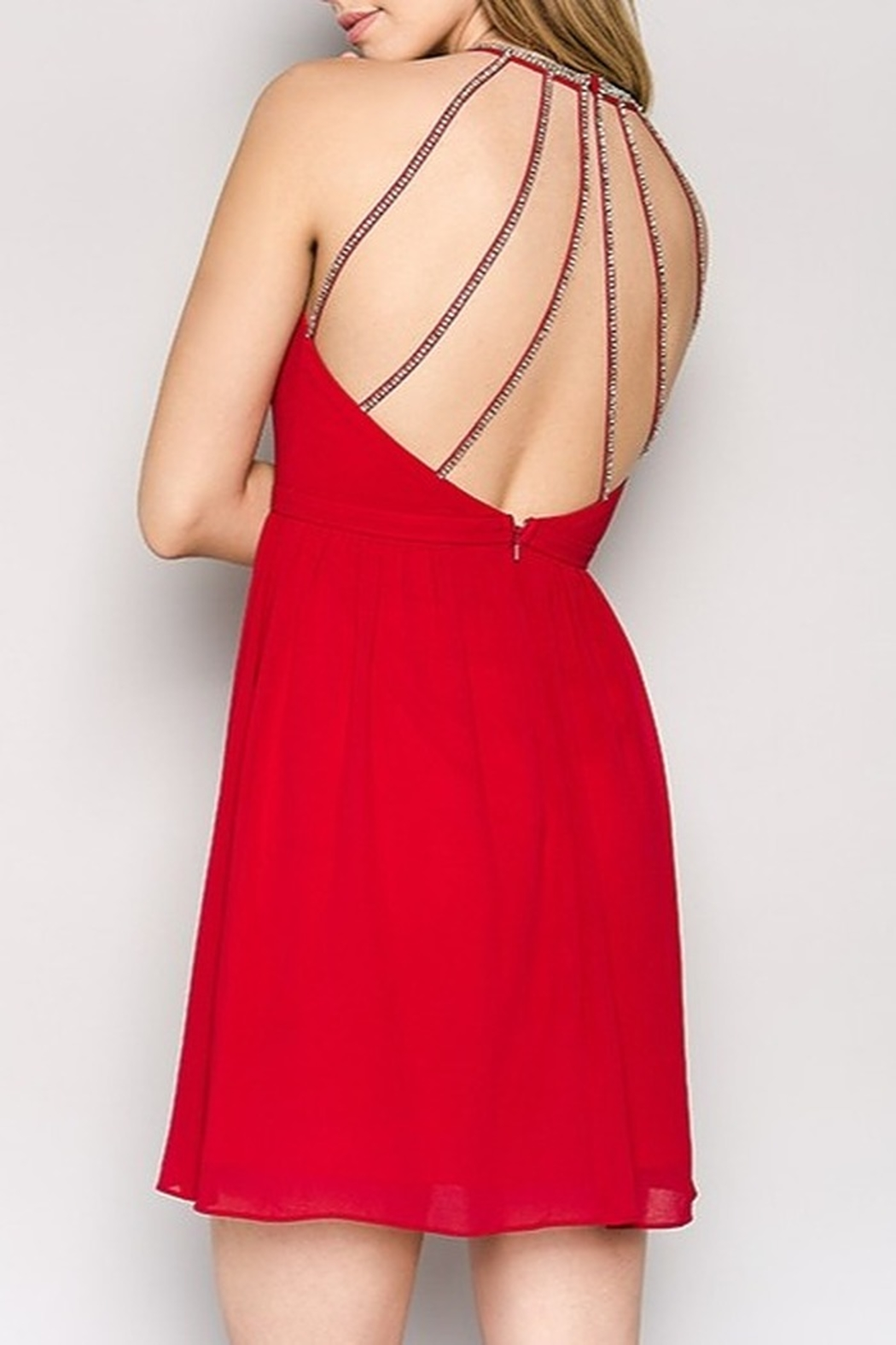 Minuet Open Back Dress - Front Cropped Image