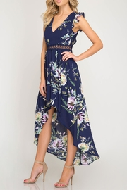 She + Sky Open-Back Floral Maxi - Side cropped