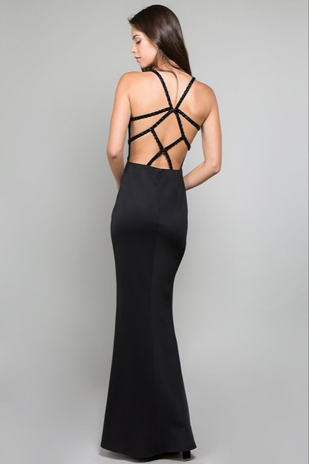 Minuet Open Back Gown - Front Full Image