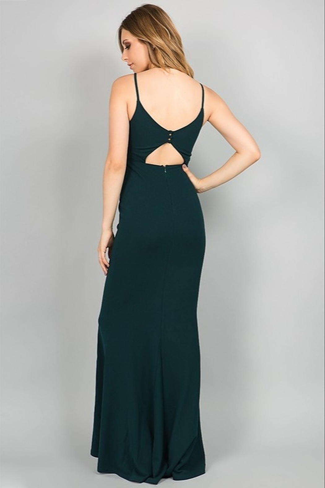 Minuet Open Back Gown - Side Cropped Image