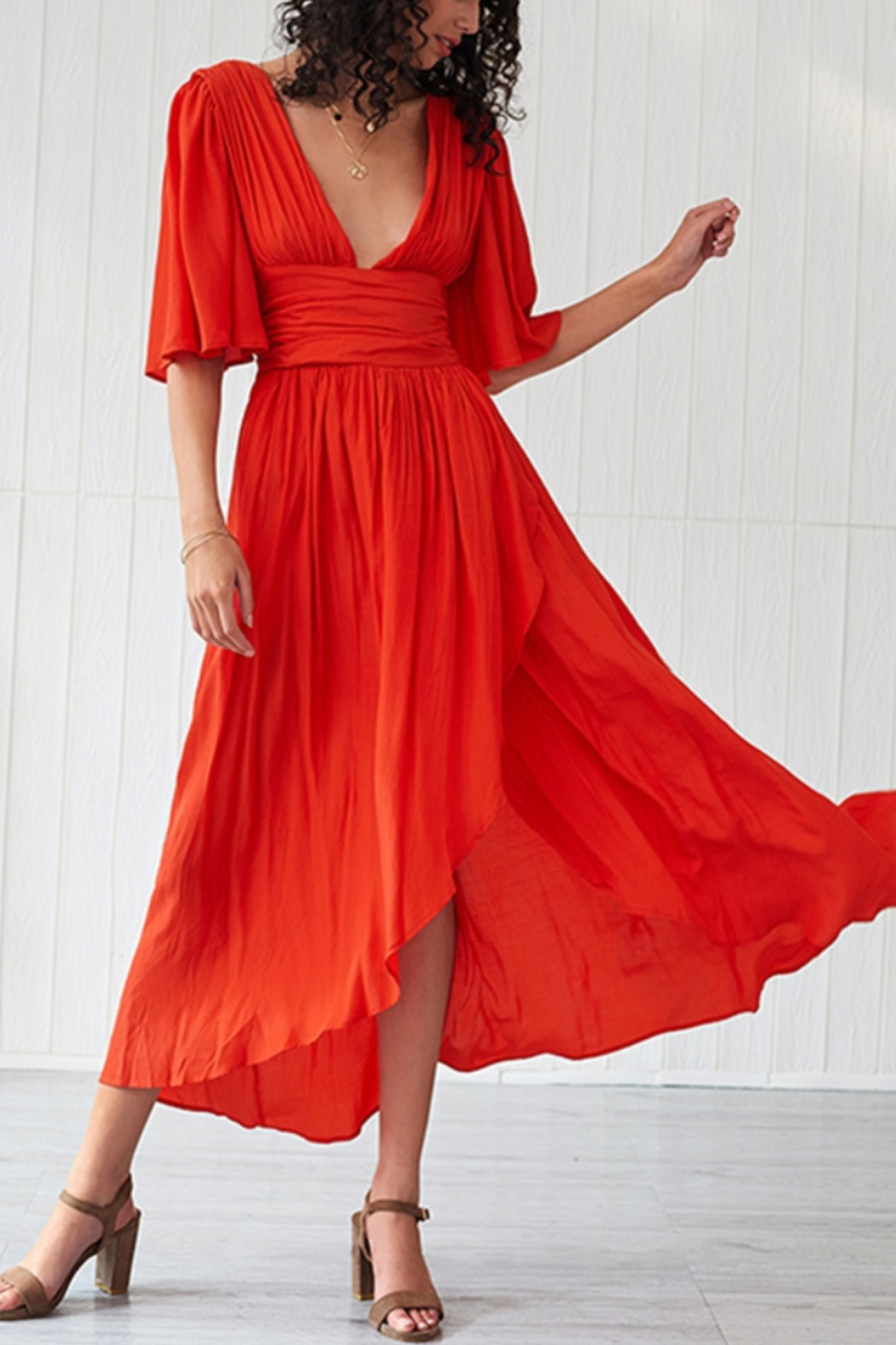 Lyn -Maree's Open Back High Low Dress - Main Image