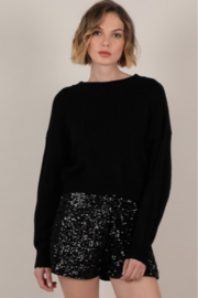 Molly Bracken Open Back Knotted Sweater - Product Mini Image