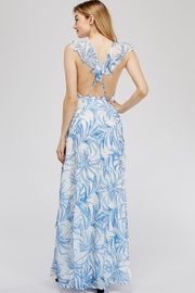 luxxel Open-Back Leaf Maxi - Side cropped