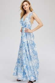 luxxel Open-Back Leaf Maxi - Front full body