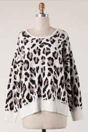 Miracle Open-Back Leopard Sweater - Product Mini Image