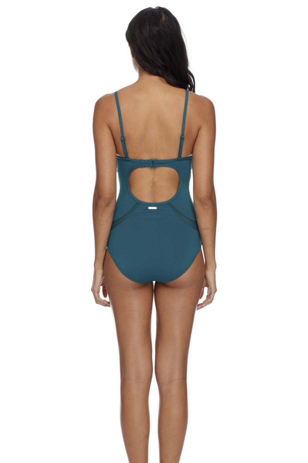 Skye Swimwear Open Back Maillot - Side Cropped Image