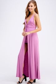 blue blush Open Back Maxi - Side cropped