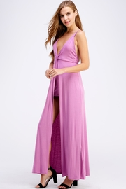blue blush Open Back Maxi - Front full body