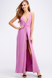 blue blush Open Back Maxi - Front cropped