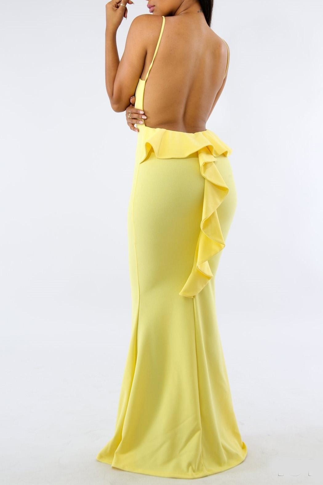 Good Time Open Back  Maxi-Dress - Side Cropped Image