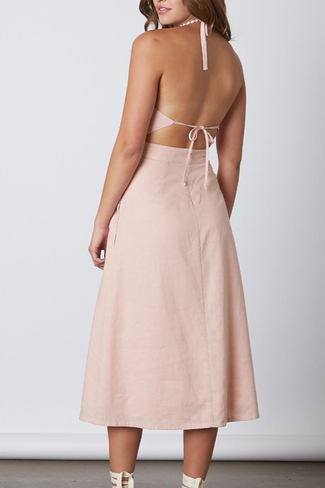 Cotton Candy  Open Back Midi Dress - Front Full Image