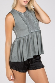 POL Open-Back Peplum Top - Product Mini Image