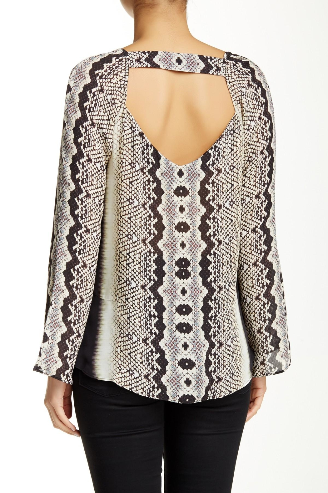 Nicole Miller Open-Back Printed Blouse - Main Image