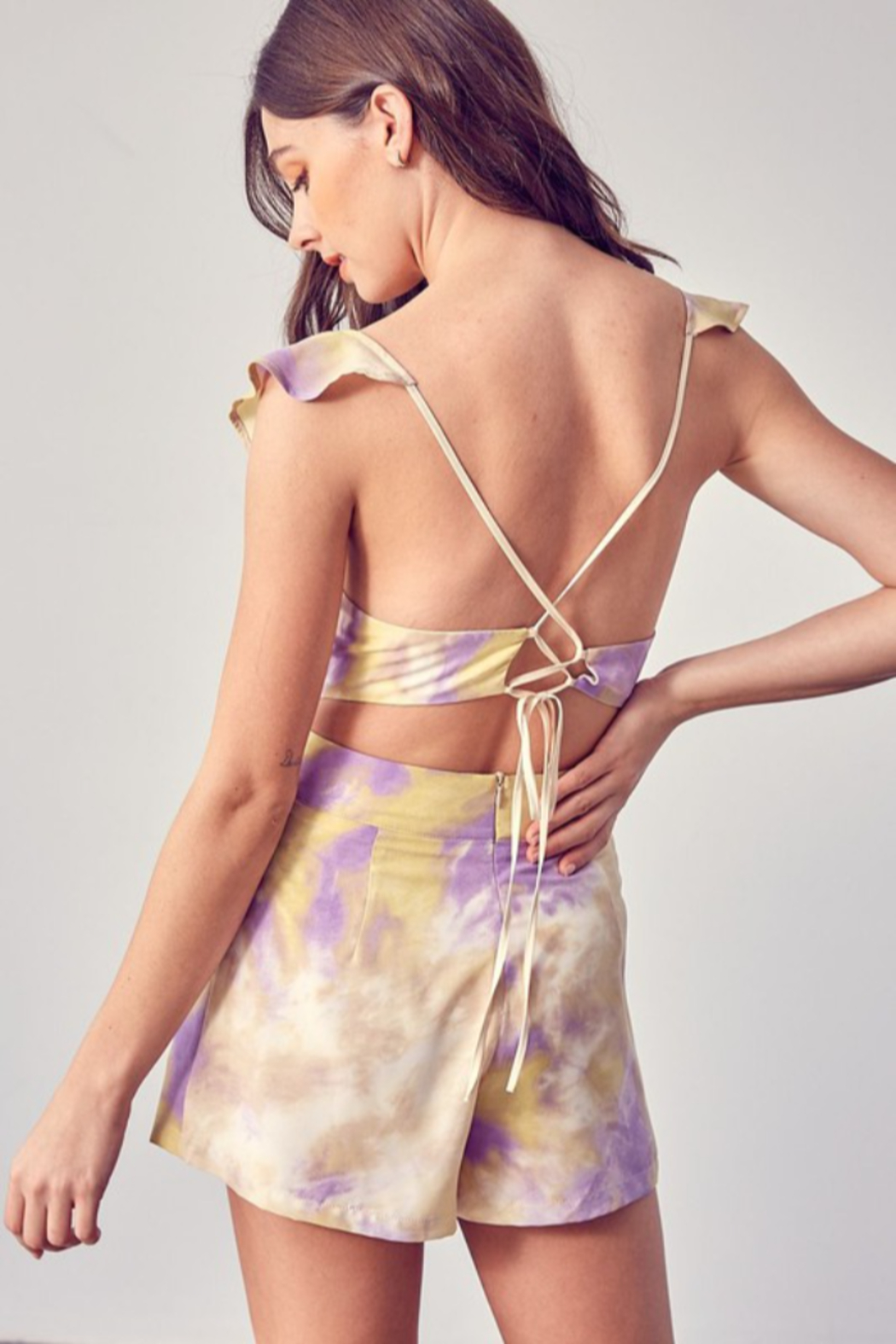 Do + Be  Open Back Romper - Side Cropped Image