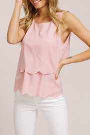 Listicle Open-Back Scallop Top - Product Mini Image