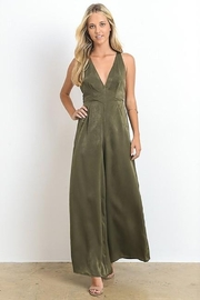 Hommage Open Back Silk  Jumpsuit - Front cropped