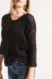 rag poets Open Back Sweater - Product Mini Image