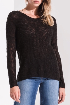 rag poets Open Back Sweater - Product List Image