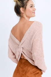 Love Tree Open Back Sweater - Product Mini Image